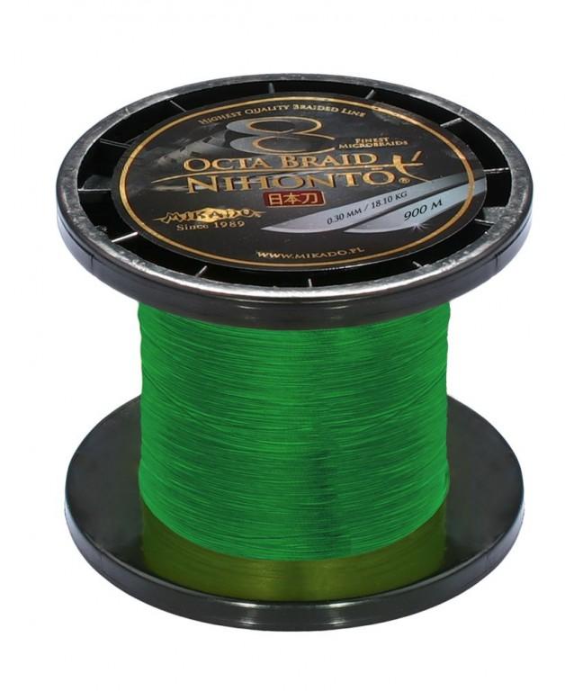 Pletená šňůra - NIHONTO OCTA BRAID 050 Zelená 900M Nosnost: 53.30kg