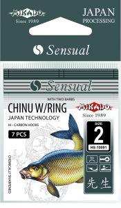 Háčky SENSUAL - CHINU WITH BARBS 10 BN Očko - 10 ks