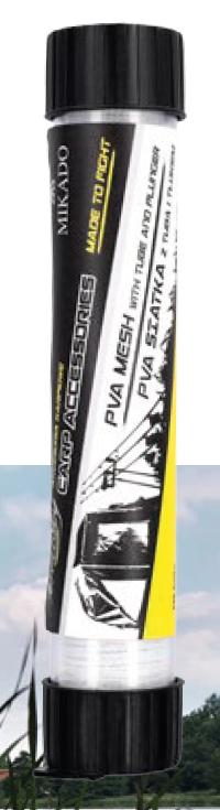 PVA SÍŤ (MESH) 23 mm / 5 m na TUBĚ - Extrémně pomalu rozpustná (EXTR. SLOW DISSOLVING > 2 min)