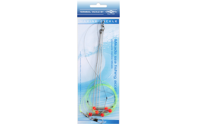 Mořský návazec - STEEL BOOM RIG 0.60mm / háčky : 6BN