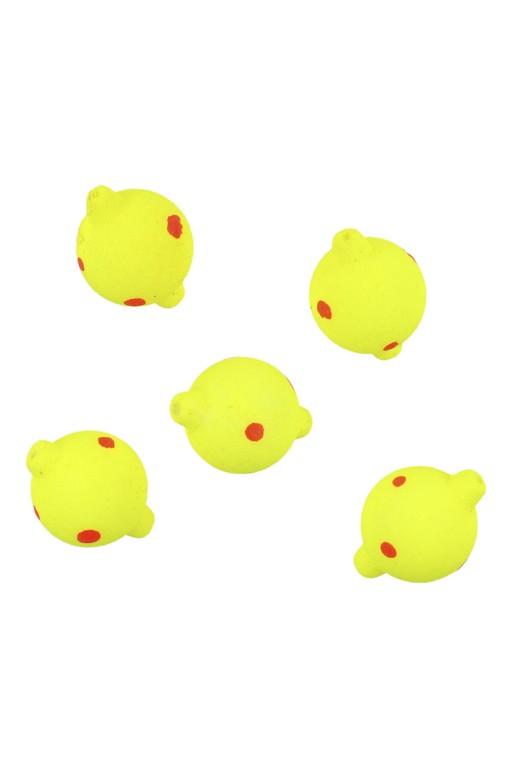 Plovoucí kuličky 8 mm - Žluto/Červená  / 5ks