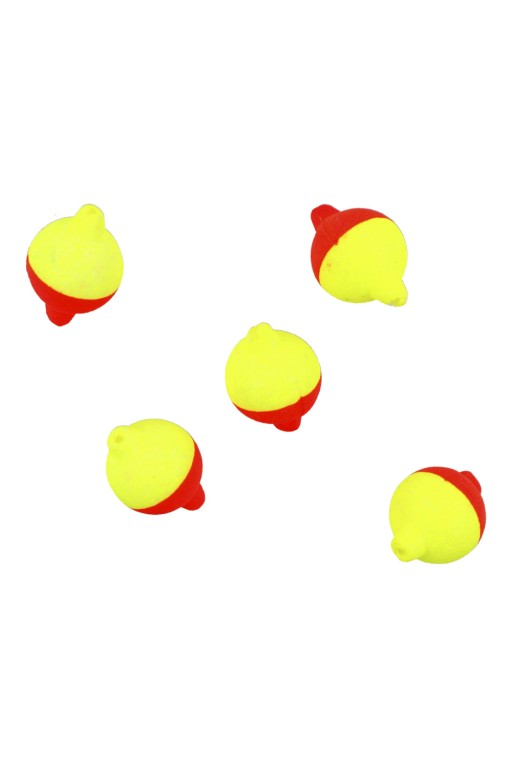 Plovoucí kuličky 8 mm - Červeno/Žlutá  / 5ks