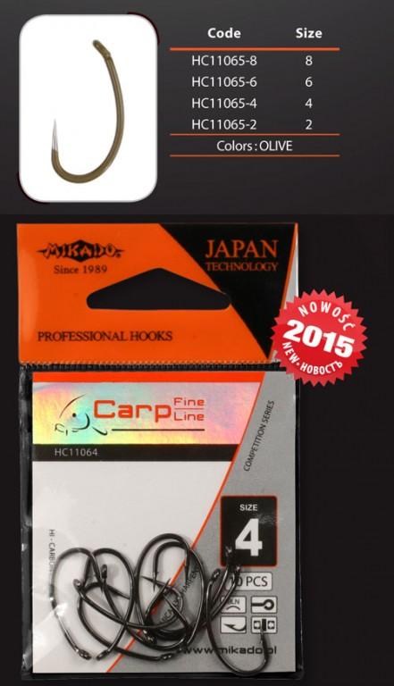 Háčky - CARP FINE LINE - 11065  vel. 8 OL - bal.10ks