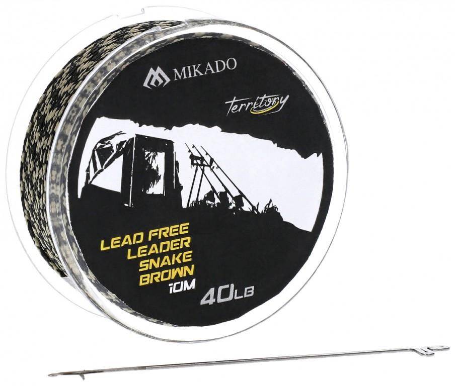 Pletenka - LEAD FREE LEADER  / Light Camo - 10m 40lbs