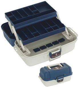 BOX - Kufřík  A002 BLUE (modro-bílý) (38 x 20 x 18 cm)