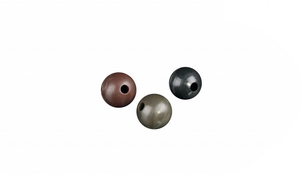 Šokové silikonové korálky 6 mm / šedo-zelené – 25 ks