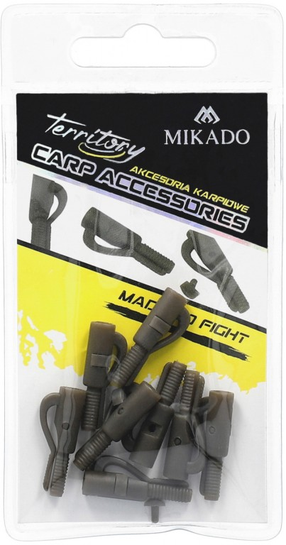 SAFETY LEAD CLIPS WITH PIN / GRAY-GREEN – pcs.10