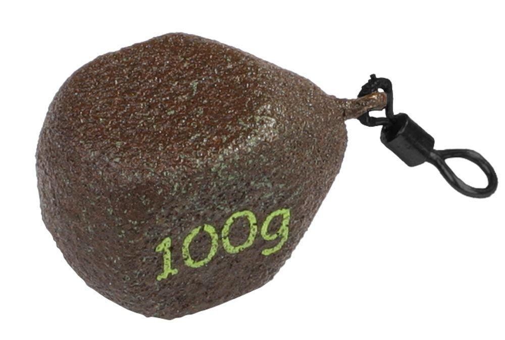 """KOSTKA """"CUBE"""" - olověná zátěž s obratlíkem (D.GREEN) - 60 g - 10 ks"""